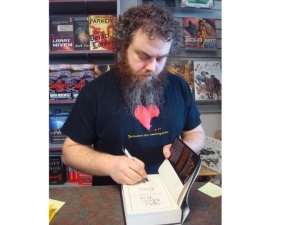 """The Kingkiller Chronicles.""  author, Patrick Rothfuss"